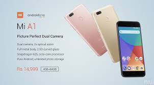 mi a1 was launched in september under google android one programme with android nougat 7 1 2 as the company promised that the mi a1 will get