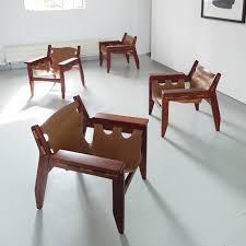sergio rodrigues kilin lounge chairs for oca 1973