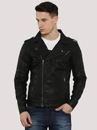flying machine faux leather biker jacket ping 1