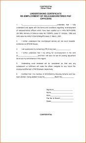 Certificate Format Recommendation Letter For Employee Image