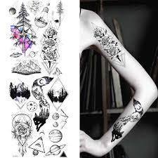 очарование черный луна временные карандаш для татуировки эскизы