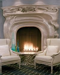 love this art nouveau fireplace at the galleria park hotel in san francisco