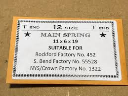 Mainspring Size Chart Details About Star Mainspring For 12s Rockford 452 Steel