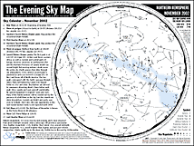Monthly Sky Chart Constellations Monthly Sky Map Free Cm Nature Study And