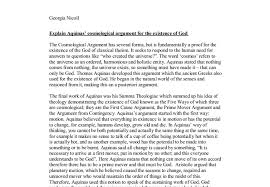 explain aquinas cosmological argument for the existence of god  document image preview