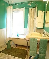 curtain attractive clawfoot tub 41 do you like showering in a houzz with green and white