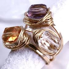 one stone stacked three ring bo by judith bright