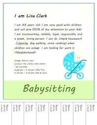Babysitter Flyer Maker Flyers Babysitting Flyer Template Poster Templates For Free