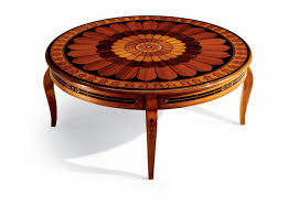 round coffee table made of solid wood
