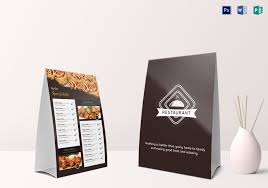 Table Tent Template Publisher Restaurant Table Tent Menu Template