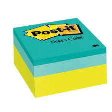 Post It Memo Cube Colourful Sticky Notes Winc