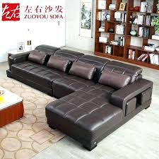 cowhide leather furniture left and right modern minimalist first layer sofa corner art chair