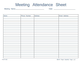 Name Email Phone Number Sheet Meeting Attendance Sheet Template Charlotte Clergy Coalition