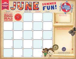 F N Menu Calendar Templates