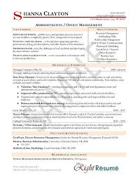 Resume Sample Sample Administrative Management Resume Resume
