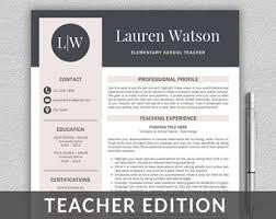 Educator Resume Etsy