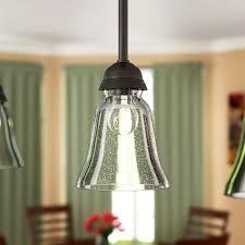 glass bell pendant shade