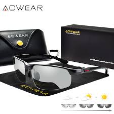 AOWEAR <b>Photochromic Sunglasses</b> Men <b>Polarized</b> Chameleon ...