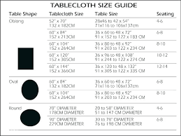 4 6 Size Chart Rectangular Tablecloth Sizes Small Rectangular Tablecloth