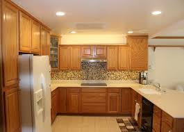 flat kitchen ceiling with led recessed lights