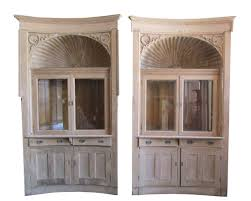 pair of built in cabinets