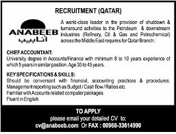 Chief Accountant Job In Qatar Finance Accounting
