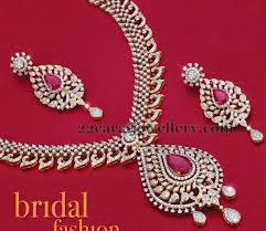 18 carat gold spectacular broad diamond necklace with simple rose cut diamonds and pear shaped pink rubies with detachable pendant in the center