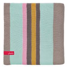 multi coloured striped throw blanket by joules at bedeck