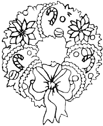 Christmas Wreath Coloring Pages Picture Page Pdf Profitclinicinfo