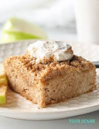 A wonderfully light and fluffy almond flour cake is sweetened with honey and flavored with vanilla. Keto Coffee Cake