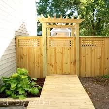 Fence Gate Arbor Designs Fence Gate Arbor Plans Fences Design