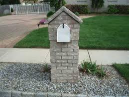 stone mailbox designs. Brick Mailbox Plans Stone Designs E