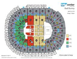 San Jose Sharks Stadium Seating Chart Best Picture Of
