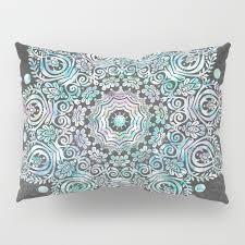 gray pillow shams. Modren Pillow Mermaid Mandala On Deep Gray Pillow Sham Throughout Shams