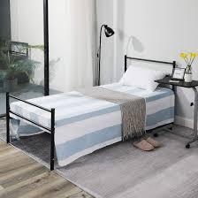 Aingoo Metallbettgestell Mit Lattenrost Gästebett Einzelbett