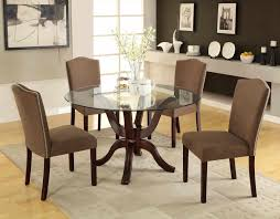 Modern Glass Dining Table Round Glass Dining Tables On Top Brown Metal Buffer Modern Room