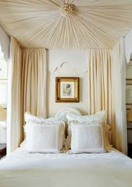 tied canopy bed curtain