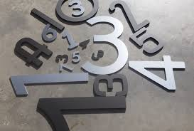 individual house numbers words