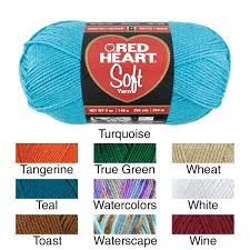 Red Heart Yarn Color Chart Red Heart Soft Yarn
