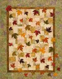 Nice pattern, would use different colors though | Quilting ... & love the way the leaves fall off the quilt Plum Tree Quilt Patterns -  Falling Leaves Quilt Pattern Adamdwight.com