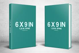 6x9 standing hardcover hardback book psd mockup template