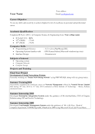 Correct Format For A Resume Resume Samples