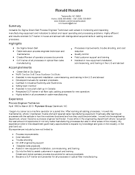 Process Technician Resume Sample Resume For Your Job Application