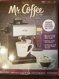 This coffee & espresso combo comes in black. Mr Coffee Steam Espresso And Cappuccino Maker Bvmc Ecm17 Brickseek