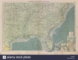 Us Atlantic Gulf Coast Ports Sea Chart Lighthouses Mail