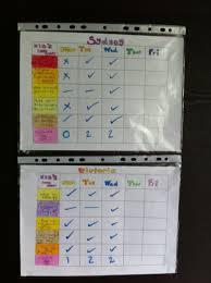 Kids Chore Chart Write Up Chart On Paper Insert Into