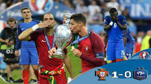 ملخص مباراة فرنسا البرتغال نهائى اليورو 2016 تعليق عصام الشوالي - YouTube