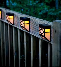 outdoor accent lighting ideas. missionstyle solar deck accent lights set of 4 outdoor lighting ideas