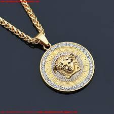 medusa pendant animals necklaces for men top qualtiy head charm hiphop jewelries brand design gold hip
