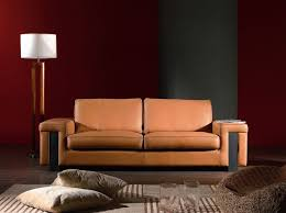 modern sofas living room furniture light brown leather contemporary style sofa